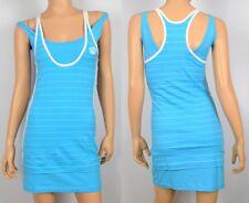 adidas Missy 2in1 Dress Damen Minikleid Sommer Stretch Kleid Queen Shirt türkis