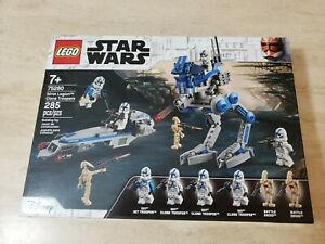 LEGO 75280 Star Wars 501st Legion Clone Troopers & Droids NEW Sealed Creased