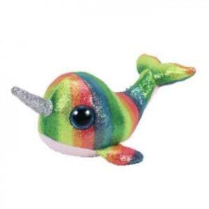 Ty Beanie Boos Medium - Nori the Rainbow Narwhal