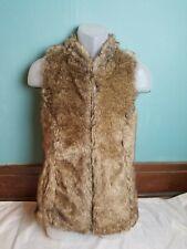 Maurices Sasson Women's Brown Faux Fur Sleeveless Vest Size Medium