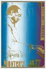 Monterey Jazz Festival POSTER 1970 Duke Ellington Cannonball Adderley Buddy Rich