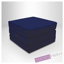 marine 100% coton replié simple lit Z Cube invité futon FAUTEUIL-LIT Budget
