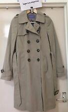 Les femmes de l'autonomie de longueur moyenne Mac Trench-coat taupe/marron clair Taille 8