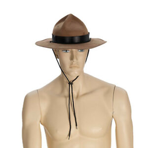 Brown Mountie Hat Costume Canada Police Canadian Royal Mounted Horse