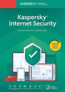Kaspersky Internet Security 2020 / 2021 1PC, 2PC, 3PC, 5PC/Geräte 1Jahr, 2Jahre