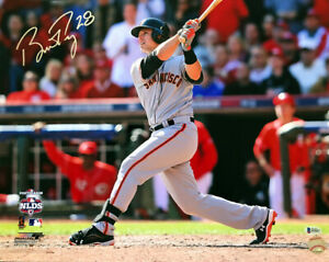 BUSTER POSEY SIGNED AUTOGRAPHED 16x20 PHOTO SAN FRANCISCO GIANTS BECKETT BAS