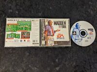 Madden NFL 98 (Sony PlayStation 1, 1997) PS1 Black Label Complete CIB
