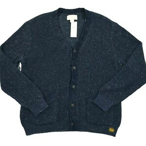 Denim & Supply Ralph Lauren Navy Blue Knit Cardigan Sweater Size XXL (2XL) NWT