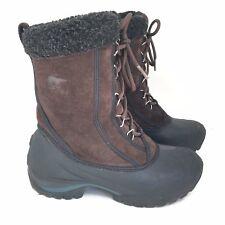536d8064 SOREL Cumberland Brown Leather Waterproof Winter Boots Womens Sz 6 M  NL1579-248