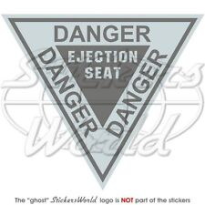 DANGER Ejection Seat Aéronef RAF Martin Baker LowVis 120mm Sticker Autocollant