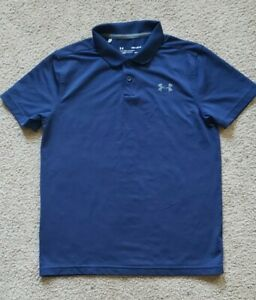 YOUTH BOYS UNDER ARMOUR HEAT GEAR LOOSE POLO SHIRT SZ YMD ** EXCELLENT **