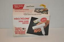 Travel Smart by Franzus Mini Cyclone 2000 Hair Dryer Palm Size! -New