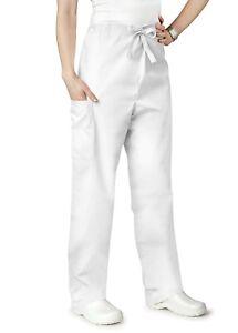 Adar Universal Unisex Natural-Rise Drawstring Tapered Leg Scrub Pants
