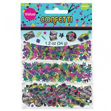 1980s Party Table Confetti Disco Music Party Table Decorations I Love 80s Party