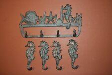 (5), Seahorse Bathroom Towel Hooks, Bronze-look Seahorse Ocean Bathroom Hooks