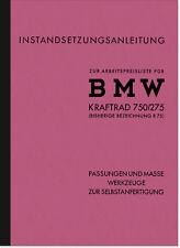 BMW R75 WH 750/275 Spezialwerkzeug Reparaturanleitung Montageanleitung Wehrmacht