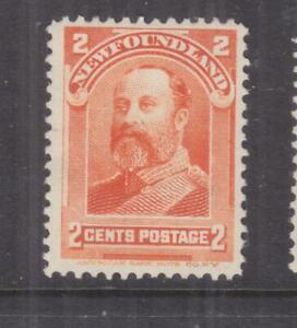NEWFOUNDLAND, 1897 KEVII 2c. Orange, heavy hinged.