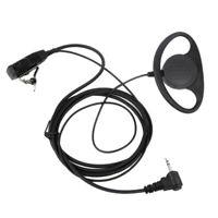 2X(1 Pin D Typ Headset Ohr Haken KopfhöRer PTT Mikrofon HöRer für Motorola C1F3