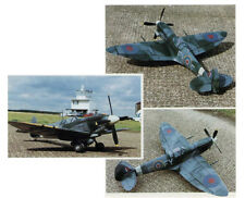 "Model Airplane Plans (RC): Spitfire Mk-IX 1/9 Semi-Scale 48"" for .40 Engines"