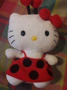 Hello kitty plush toy ladybird 19 cm kitty collectables