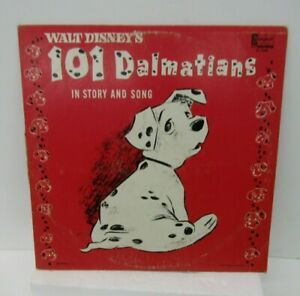VTG Walt Disney 101 Dalmatians In Story and Song LP Record 1963