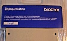 New listing Brother Applique Station Beige Pre-Cut Fabrics w/ Iron-On Adhesives 10 Count