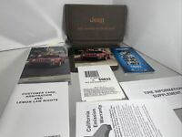 New 2016 Jeep Renegade Owners Manual with supplements, DVD and case