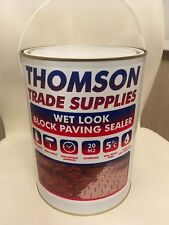 More details for wet look driveway sealer block paving -patio sealant 5ltrs (hard wearing)