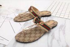 NEW GG Gucci Women's logo Sandals Khaki Color US Size 7.5