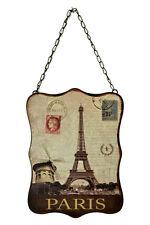 """10.5"""" Paris Moulin Rouge Eiffel Tower Vintage Style Metal Wall Sign Plaque Decor"""