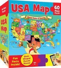 MasterPieces Explorer Kids - USA Map - 60 Piece Kids Puzzle Christmas Birthdays