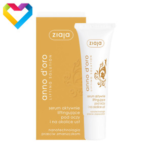 ZIAJA ANNO D'ORO LIFTING EYE SERUM CREAM DRY NON-ELASTIC SKIN 40+ 30ml  00895