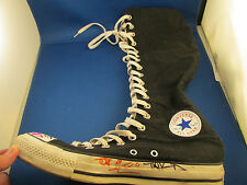 Converse All Star Chuck Taylor Knee High Top Black Sneakers Men's 8 Women's 10