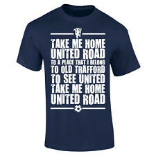 Mens United Road Old Trafford Manchester Football Chant Song T-shirt NEW S-XXL