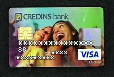 Expired Credins Bank debit card VISA ELECTRON with girls from Albania. With chip