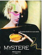 """Publicité Advertising 1984 Parfum """"Mystère"""" de Rochas"""