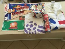 Vintage 1994 USA World Cup Full Package Adidas Soccer Ball, Banner, Pin, etc