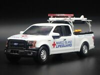 2015 - 2020 FORD F150 TRUCK MARCO ISLAND LIFEGUARD 1:64 SCALE DIECAST MODEL CAR