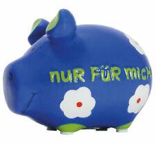 Nur für Mich Sparschwein Spardose 12cm Motiv Money Kleinschwein Keramik