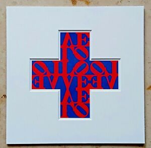 Robert INDIANA (1928-2018) Vintage Print Anno 1971 LOVE CROSS 1968 (g13)