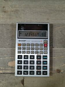 Vintage Sharp EL-525 Solar Cell Scientific Calculator Japan Metal Silver