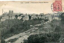 Carte LAON Panorama Saint Martin