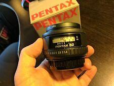 PENTAX Pentax SMCP-FA 50mm f/1.4 Lens  Original Packaging & UV Filter
