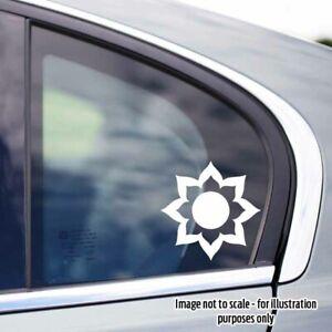 100mm high White Lotus MK Logo Vinyl Sticker