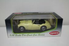 1-18 Kyosho Austin Healey 100/6 Yellow Diecast Metal Series item # 08144Y. NOS