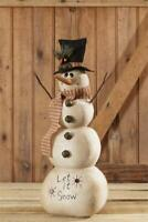 Christmas Decoration, Snowman, Vintage Style, Let It Snow, Tall