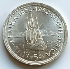 1952 South Africa Silver Crown 5 Shillings Coin 28.2g Excellent Condition