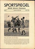 OL 50/51 BSG Motor Dessau - BSG Stahl Thale, 29.04.1951, Kurt Brenning