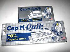 CAP-M-QUIK Capsule Filling Machine / Filler & Tamping Tool/ Tamper Size '0' Caps