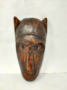 Antique Wooden African Mask Hand Carved Monkey Head Shape Mask Face Mask Old